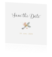 Save the date Flower krans