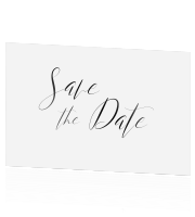Save the date kaart flowers roze