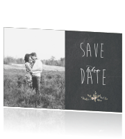 Save the Date krijtbord foto