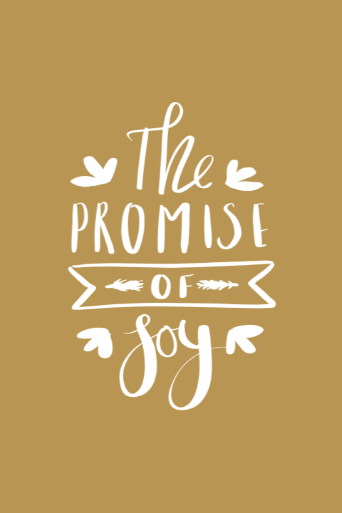 Kerstkaart the promise of Joy