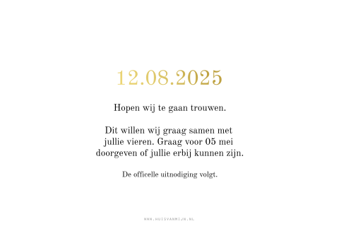 Save the Date kaart foto liggend