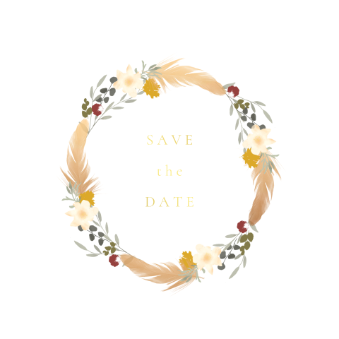 Save the Date Bohemian Indian Summer
