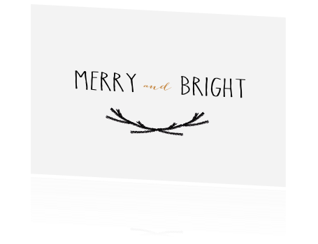Kerstkaart merry and bright