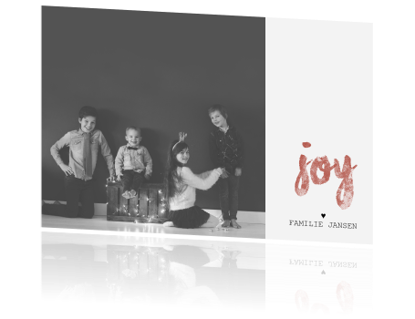 Kerstkaart brush foto joy