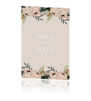 Save the Date kaart rozen