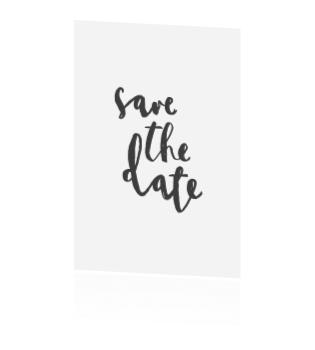 Save the date brush handlettering